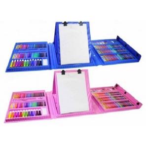 2 набора для юного художника 416 деталей синий и розовый