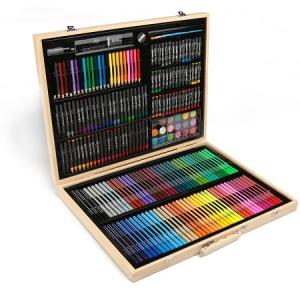 Набор для творчества в деревянном чемоданчике. 220 деталей