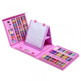 Набор для юного художника розовый 176 деталей