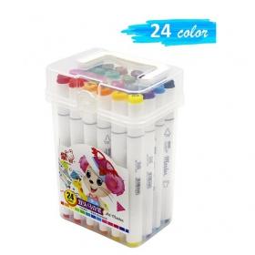 Набор двухсторонних маркеров 24 штуки