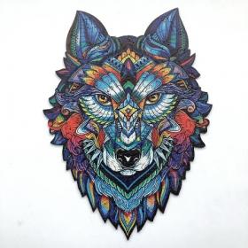 Деревянный пазл Волк