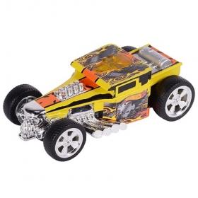 HW90564 Машинка Хот вилс на батарейках со светом механическая, желтая 14 см. Оригинал !