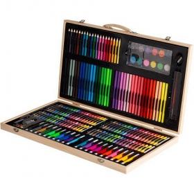 Набор для творчества в деревянном чемоданчике. 180 деталей